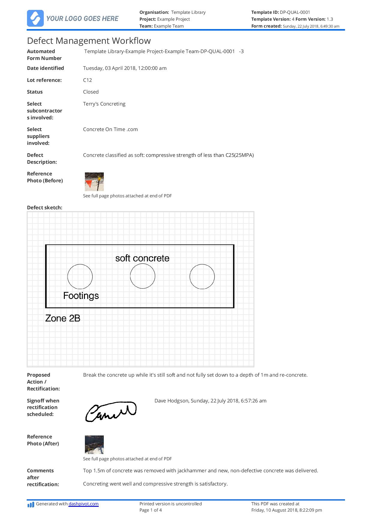 Free Defect Report Template Better Than Word Doc And Excel