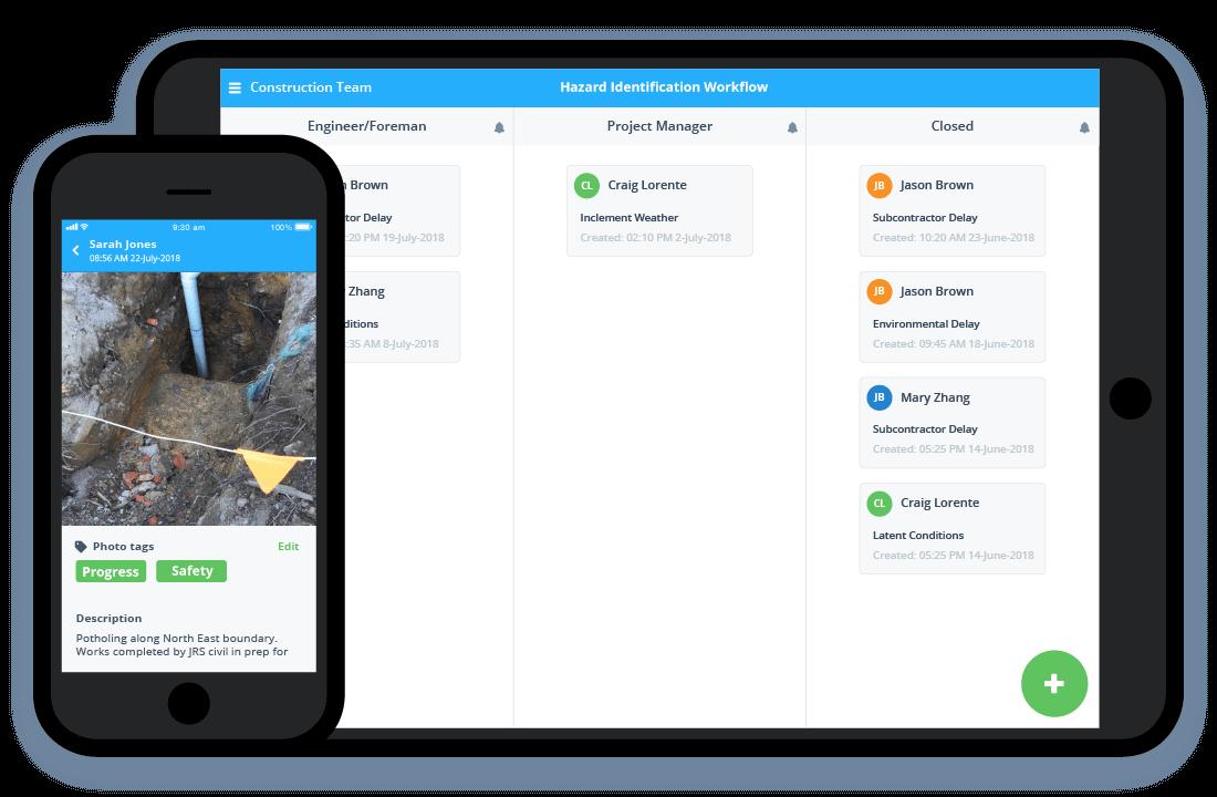 Construction project management app